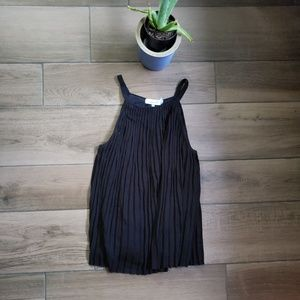 Calvin Klein pleated swing top blouse L